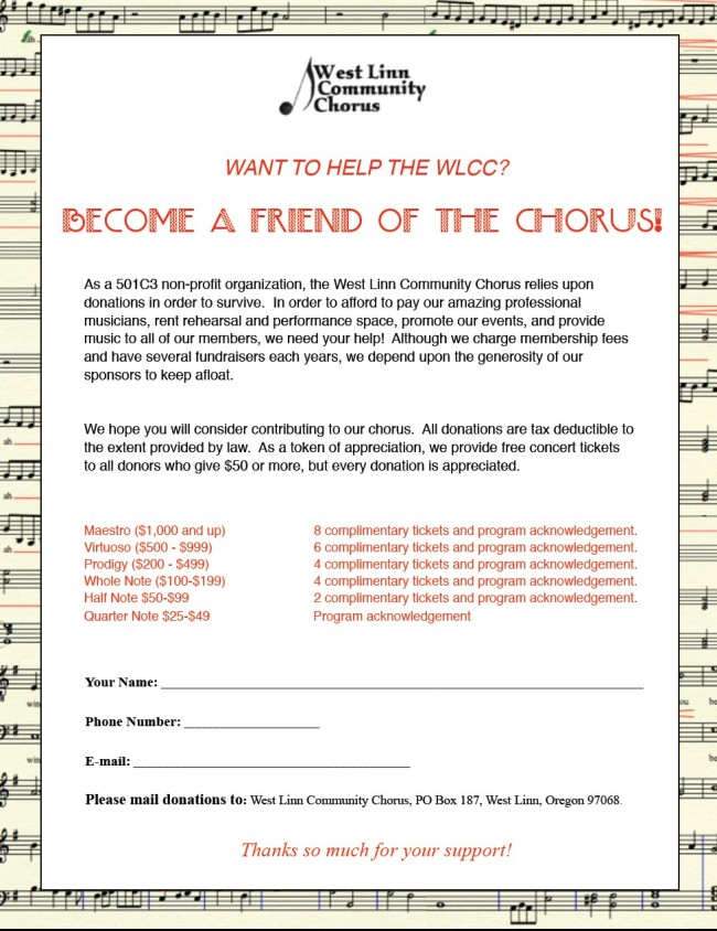 Friends of the Chorus 2014