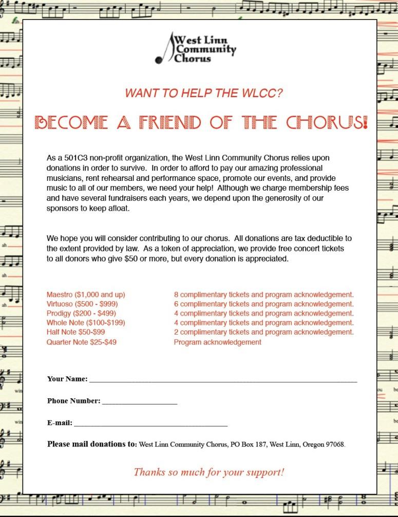 Friends of the Chorus 2014